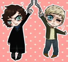 Little John and Sherlock by Haku-Ellie