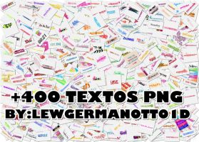 +400 TEXTOS PNG! by LewGermanotto1d