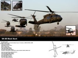 Black Hawk Wallpaper by Elwoodzik