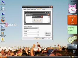 Zune XP Desktop theme, Real by Josu660
