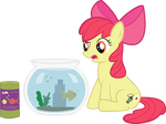 Apple Bloom Feeds a Fish by PacificGreen