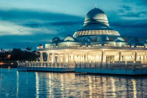 The floating Mosque by MrZero1990