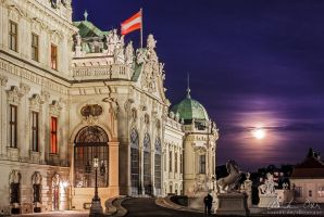 Belvedere at full moon by Nightline