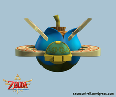 LOZ: Skyward Sword - Beetle with Bomb Animation by seancantrell