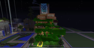 minecraft tree house by rsclaymore