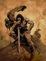 john buscema conan pinup color by bek76