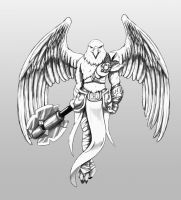 Humanoid eagle by Hector-Blanco