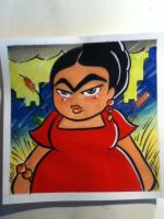 Frida in Chicago by ChibiCelina