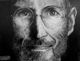 Steve Jobs - Pencil/Graphite Portrait by inhibitus