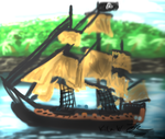 Pirate Ship Doodle by KilaWolfsblut