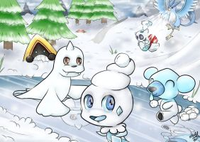Ice Pokemon Landscape by TattyBudderfly