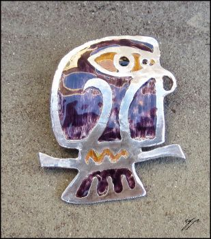 Owl Pin by Ellygator