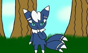 Azurite the meowstic! by velociprey149
