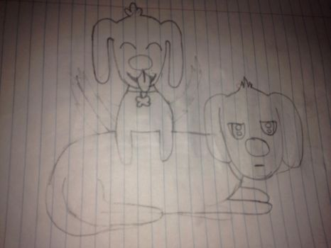 Unfinished sketch of my dogs by BunnyLord365