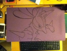 Lucario - Playing Mat by MentalMandur