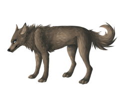 Lineless wolf by Reneah
