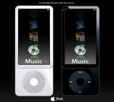 iPod- 6th Gen- Vertical View by Gyroxide