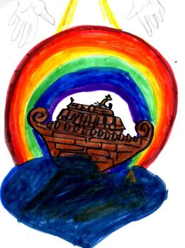 Ark and Rainbow by SonicClone