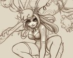 Moon Bunny Girl WIP by phungdinhdung