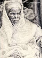 Harriet Tubman - Graphite on A3 by lorenzowalkes
