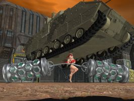 Ultra Soldier Girl vs Wartank by SuperCDR