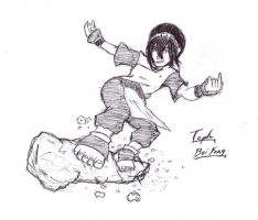 toph -'earthboarding' by redblacktac