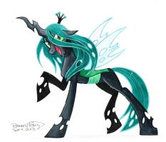 Queen Chrysalis Commission by BrendaHickey