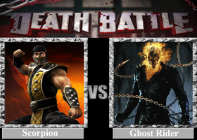 DEATH BATTLE! Idea: Scorpion VS Ghost Rider by Powershade117