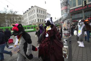 Fursuitwalk Hannover 5.4.2014 Part 15 Germany. by ASKABANIUM