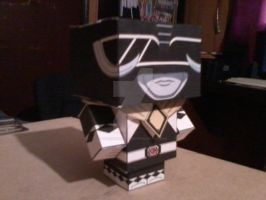 Black Ranger with Dragon Shield CubeeCraft by SuperVegeta71290