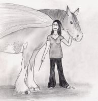 Me and my Winged Horse by ElreniaGreenleaf