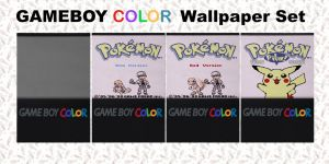 Gameboy Color Wallpaper Set for Ipod/Iphone by GinjaSnap