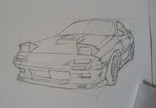 initial D sketch  by gigoneaWORLD