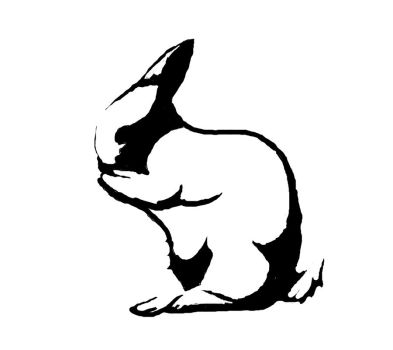 Rabbit Stencil by theonlytime