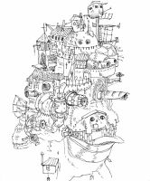 Howls moving castle by Hyperfisk