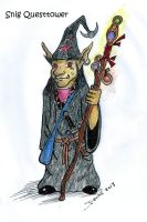 Snig Questtower, goblin wizard by Mistgod