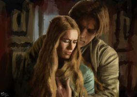 Cersei and jaime by Meewtoo
