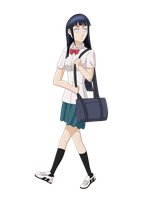 High School Hinata by Silent-Shanin