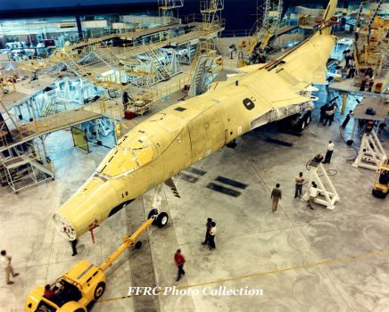 B-1B 84-0058 on the assembly line, circa 1986 by fighterman35