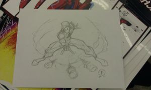 Scarlet Spiderman Con sketch by JoeyVazquez