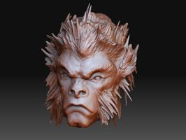 Monkey King ZBrush Sketch by angryzenmaster