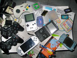 Scrap game consoles by BsaturnineD