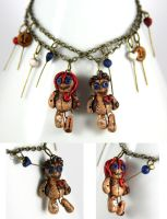 Voodoo Doll Couple Bracelets by NeverlandJewelry