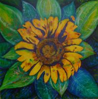 LUCYS GARDEN - SUNFLOWER by artitudeuk