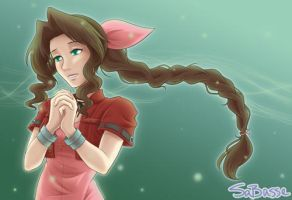 Aerith Gainsborough by SaBasse