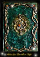 Celtic Journal Golden leaf by Gwillieth