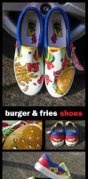 Cheeseburger and Fries Vans by Poj5