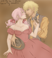 A NaruSaku western color by Kitsunena