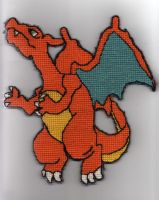 Charizard cross-stitch by Alondra-chui