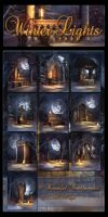 Winter Light Backgrounds by moonchild-ljilja